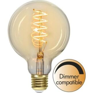 DECORATION GLOBE SPIRAL Ø95 E27 3W 2200K 160LM DIMMBAR