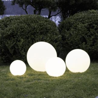 TWILIGHTS UTENDØRS LAMPE RGB M/FJERNKONTROLL RUND 50 CM