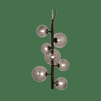 Molekyl taklampe loddrett 58 Cm Sort/Røk
